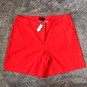 Talbots high-waisted coral/orange shorts NWT